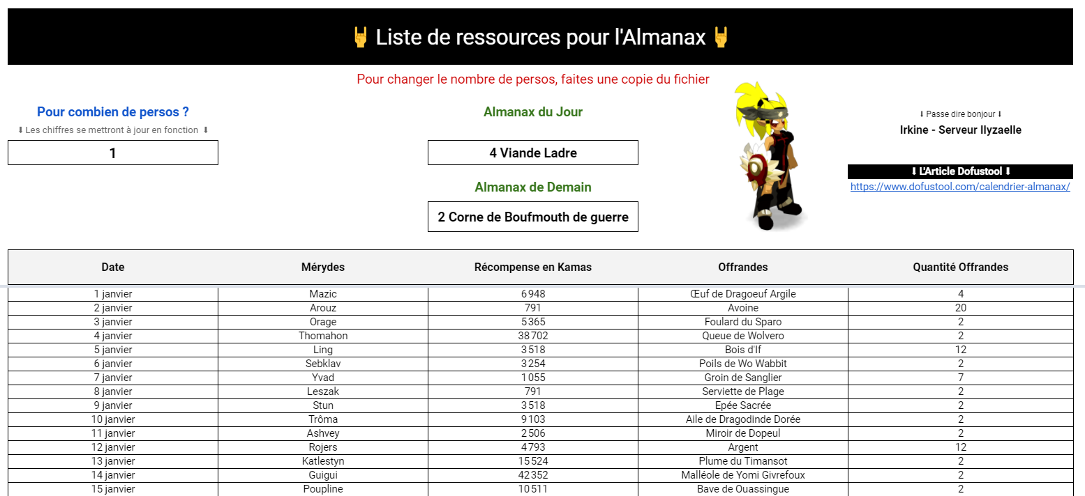 almanax_excel_dofustool1